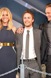 Taylor Kitsch posed for photos with the cast.
