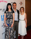 Krysten Ritter, James Van Der Beek, and Dreama Walker posed together at the premiere of Life Happens in Century City.
