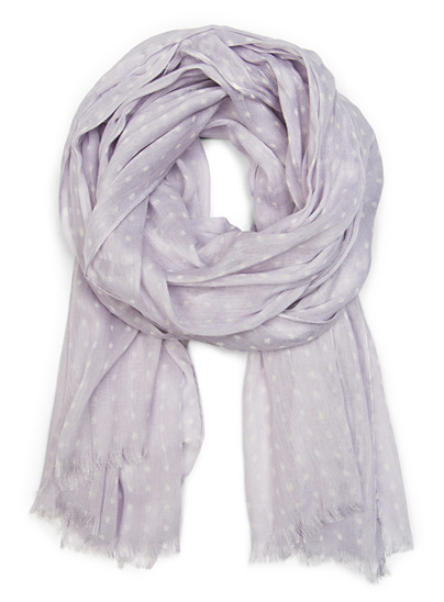 The lilac hue looks so gorgeous against almost every palette — and the polka dots add an element of surprise. Mango Polka Dot Print Scarf in Lilac ($25)