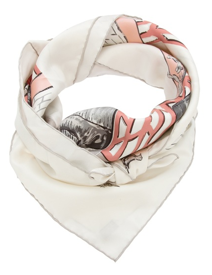 Vintage, quaint, and a timeless classic — every lady needs to invest in an Hermès scarf. Hermes Vintage Horse Pattern Scarf ($405)