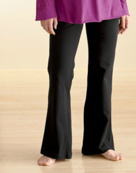 The flattering lines of Gaiam's Organic Bootcut Pant ($68) are great for every day, plus they're made from organic cotton.
