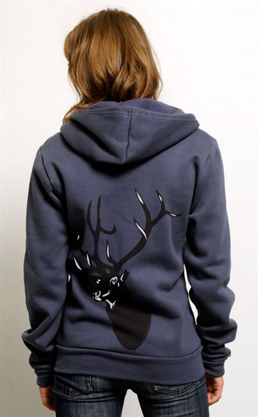 I'm loving the cute creature on the back of this Olly The Elk Zip-Up Hoodie ($60), created from 80 percent organic cotton.