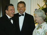 Gerhard Schroder and Tony Blair, 2005
