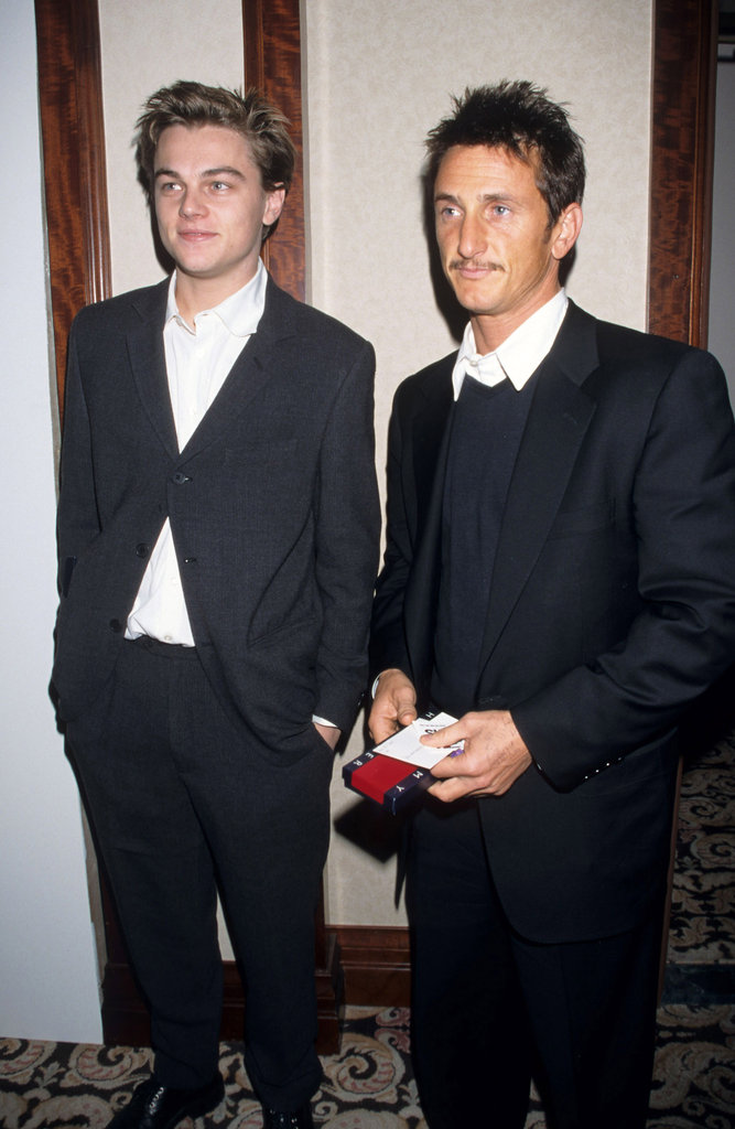 A young Leonardo DiCaprio hung with Sean Penn in 1997.