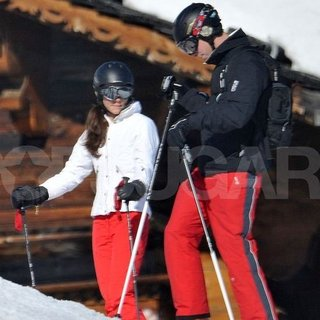 Kate Middleton and Prince William Skiing in France Pictures