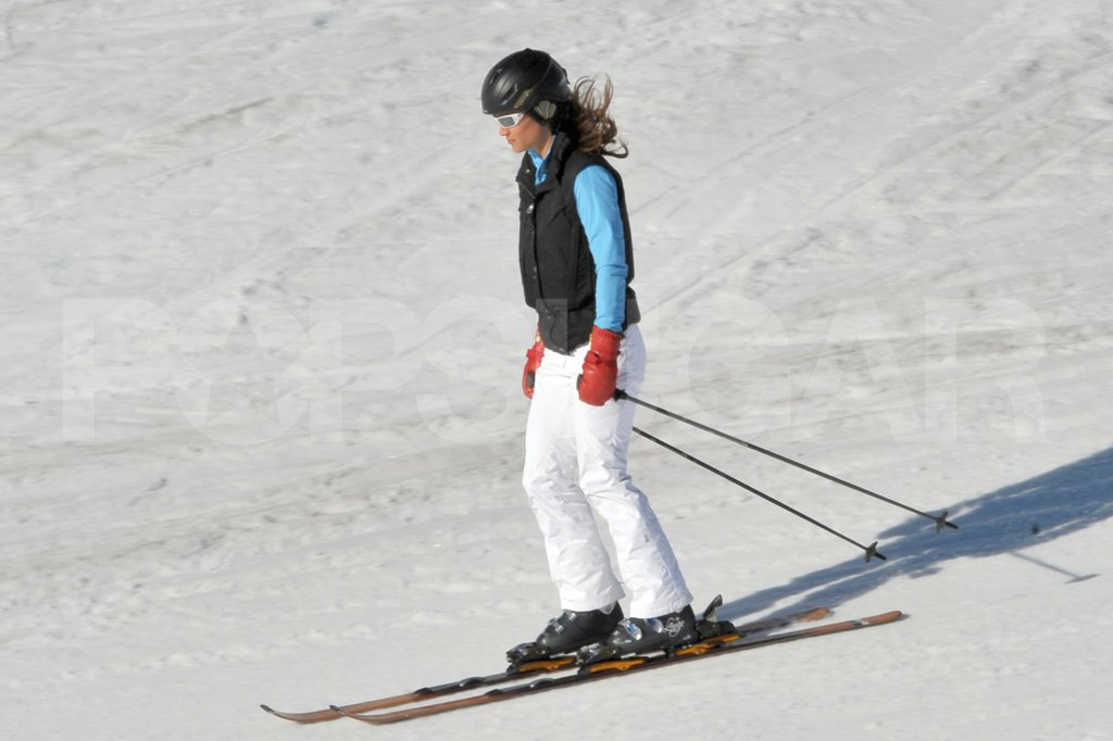 Pippa Middleton showed her athletic ability on her skis while on vacation in France.