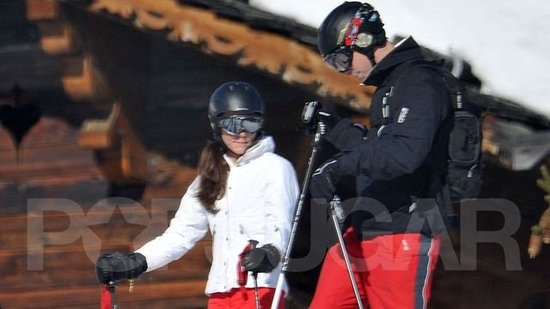 Video: Prince William and Kate Middleton Match on Family Ski Trip in France