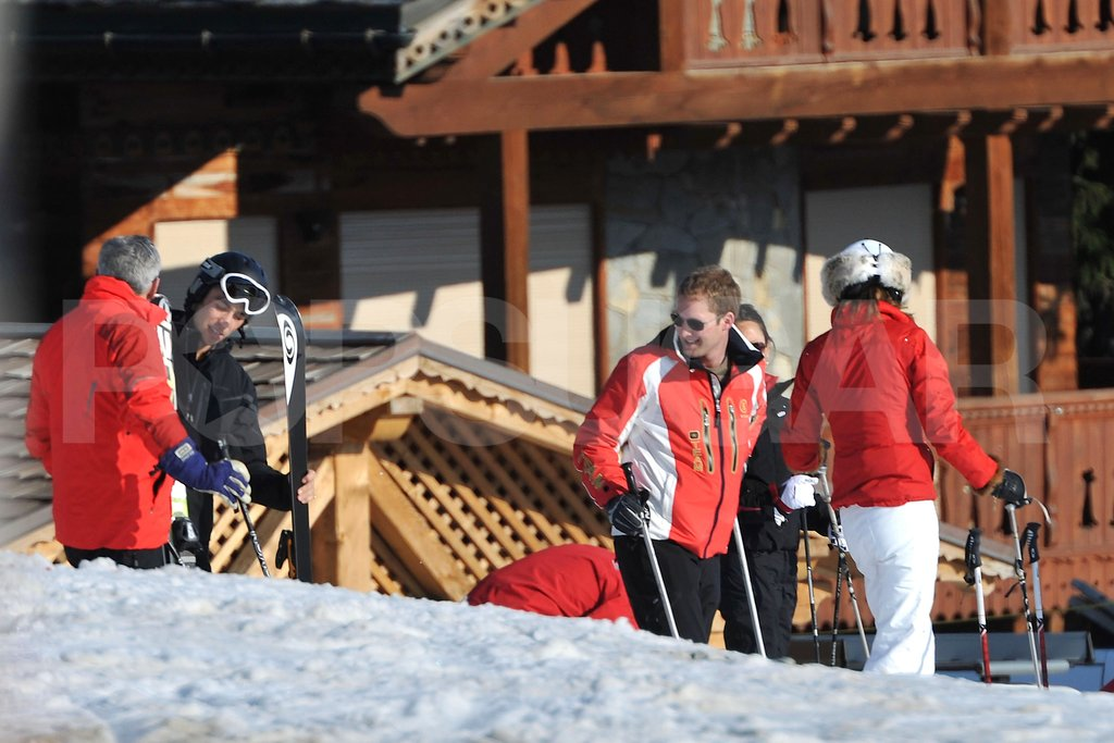 Carole Middleton, George Percy, and Michael Middleton hung out on the slopes in France.