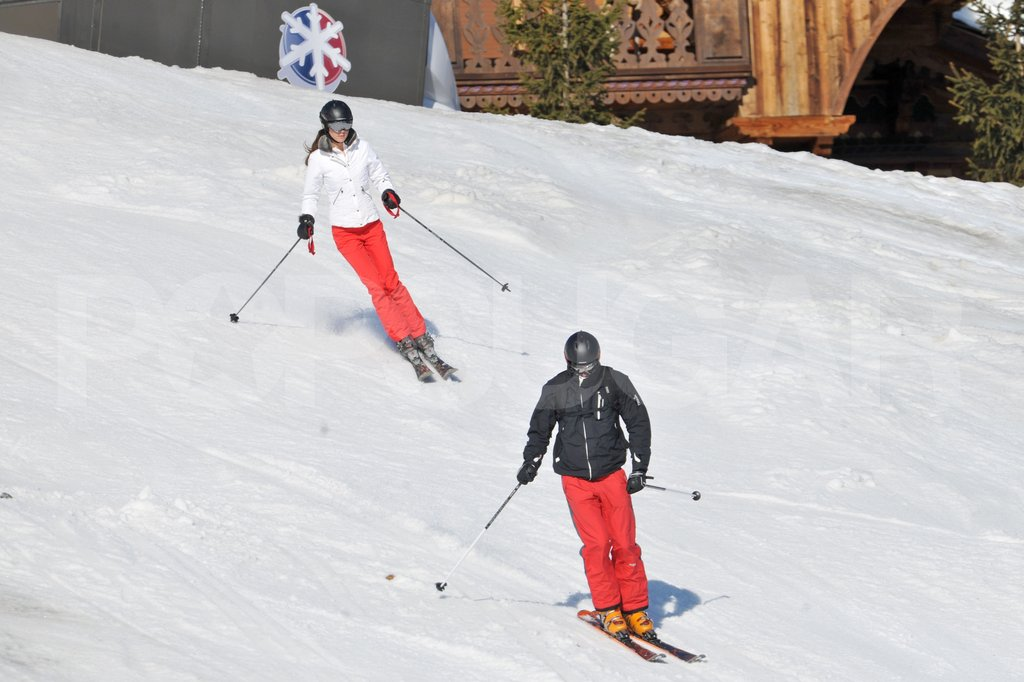 Kate Middleton and Prince William showed off their skills on the slopes in France.