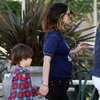 Drew Barrymore With Kid Friend Pictures in LA