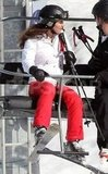 Kate Middleton rode the lift up the mountain while skiing on vacation in France.