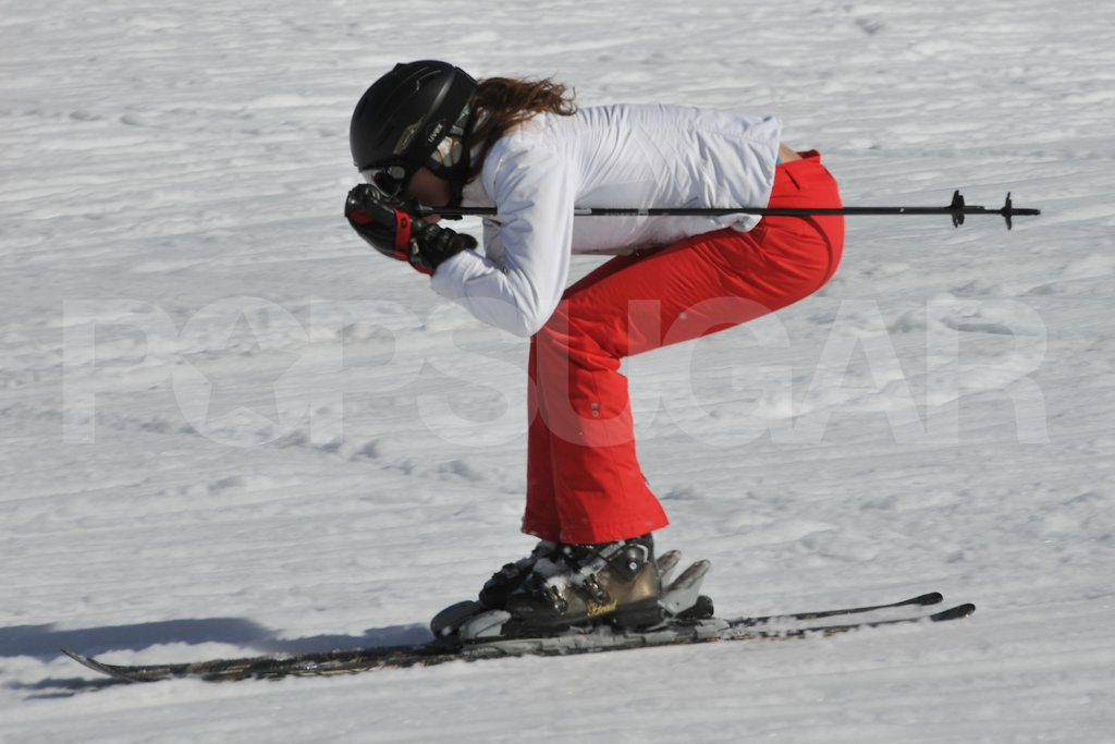 Kate Middleton tucked and flew down the mountain on her skis in France.