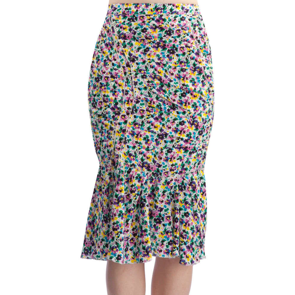 If you're thinking of making a serious skirt investment, this ruched silhouette hugs the form and adds a pretty Spring floral print to boot.  Nina Ricci Ruched Pencil Skirt ($1,850)