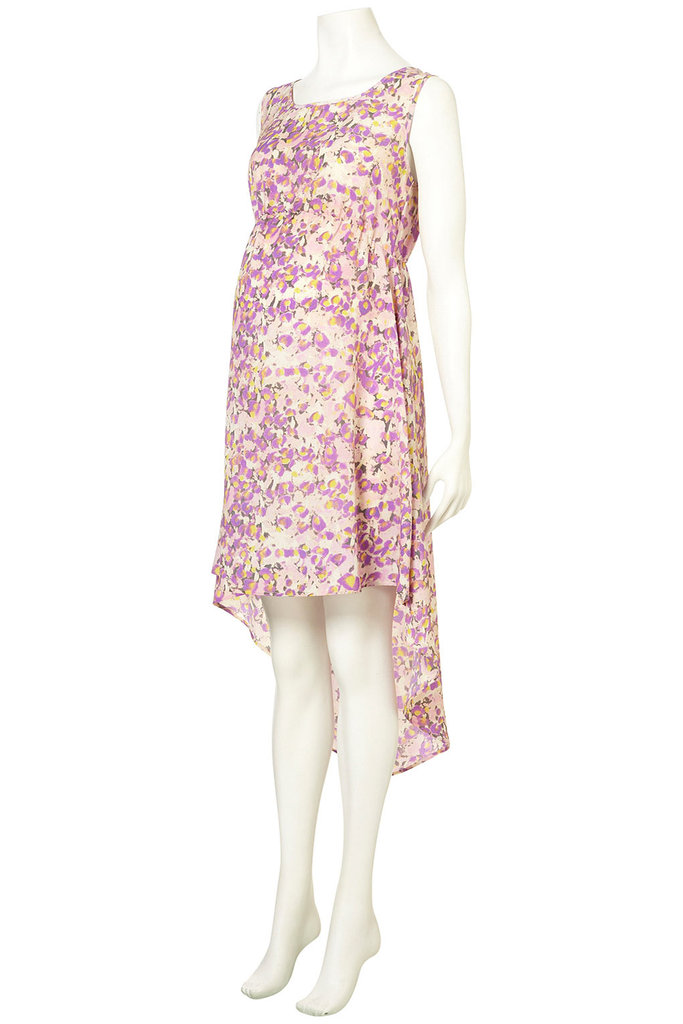 Topshop Floral Dip Hem Dress ($92)