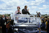 The royal couple waved to onlookers from their car in Wellington, New Zealand, in 1981.