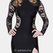 Atria long-sleeve lace dress ($258)