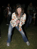 Steven Tyler showed up for the festival fun in 2008.