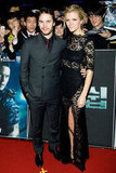 Brooklyn Decker had an arm around Taylor Kitsch to premiere Battleship.