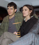 Keira Knightley sat next to her boyfriend James Righton in a car out in London.
