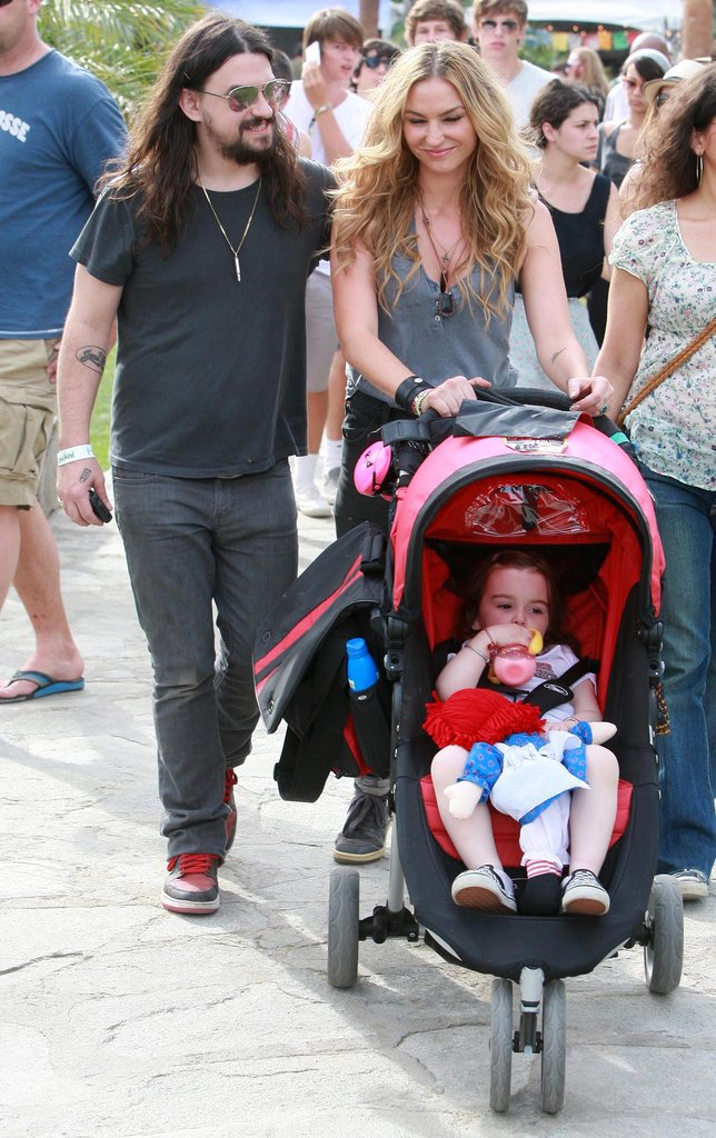 Drea de Matteo and Shooter Jennings brought their child to Coachella in 2010.