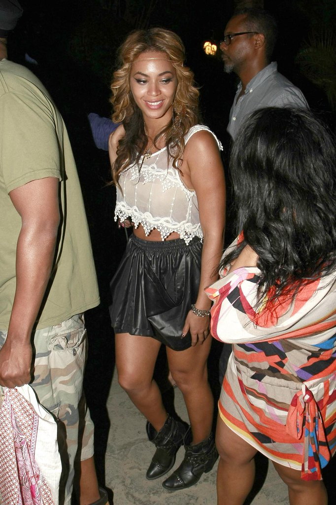 Beyoncé Knowles hung out in the 2010 audience.