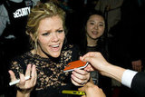 Brooklyn Decker joked with fans.