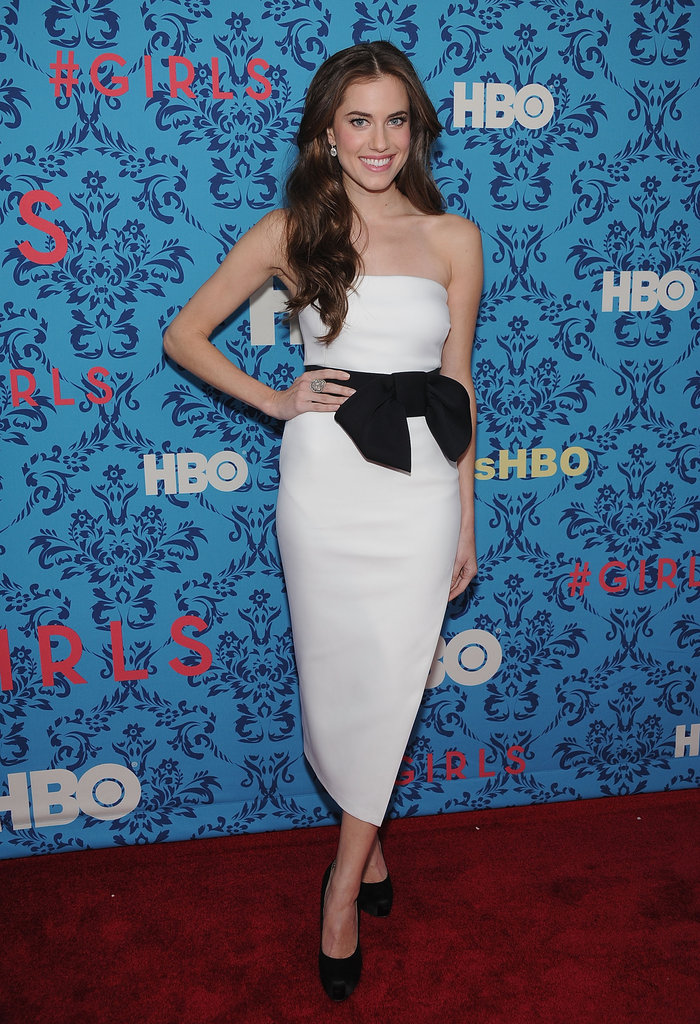 Allison Williams at the premiere of HBO's Girls in NYC.