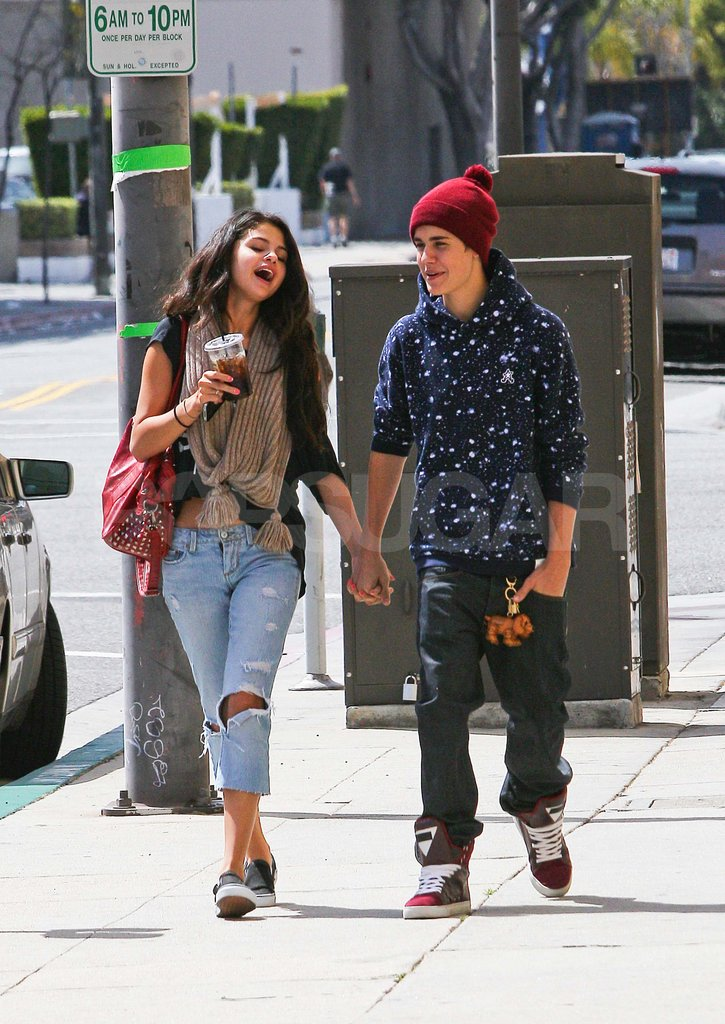 Justin Bieber and Selena Gomez Bring PDA to Their Day Date