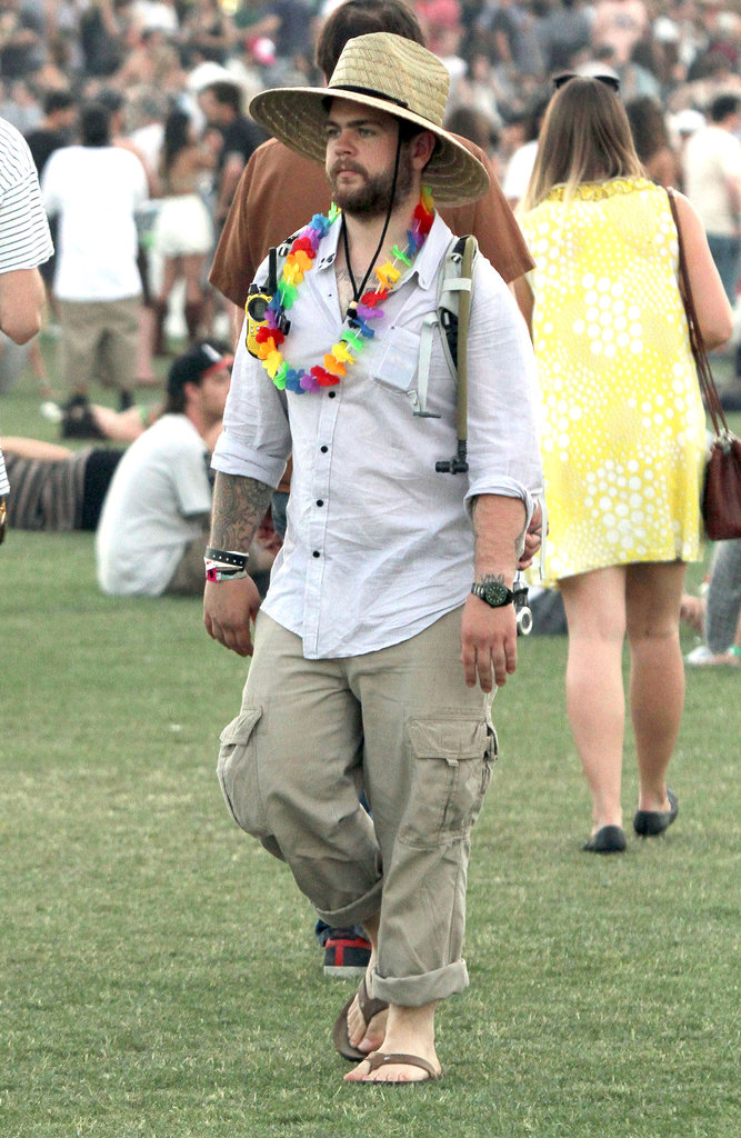 Jack Osbourne got festive in 2011 with a lei.