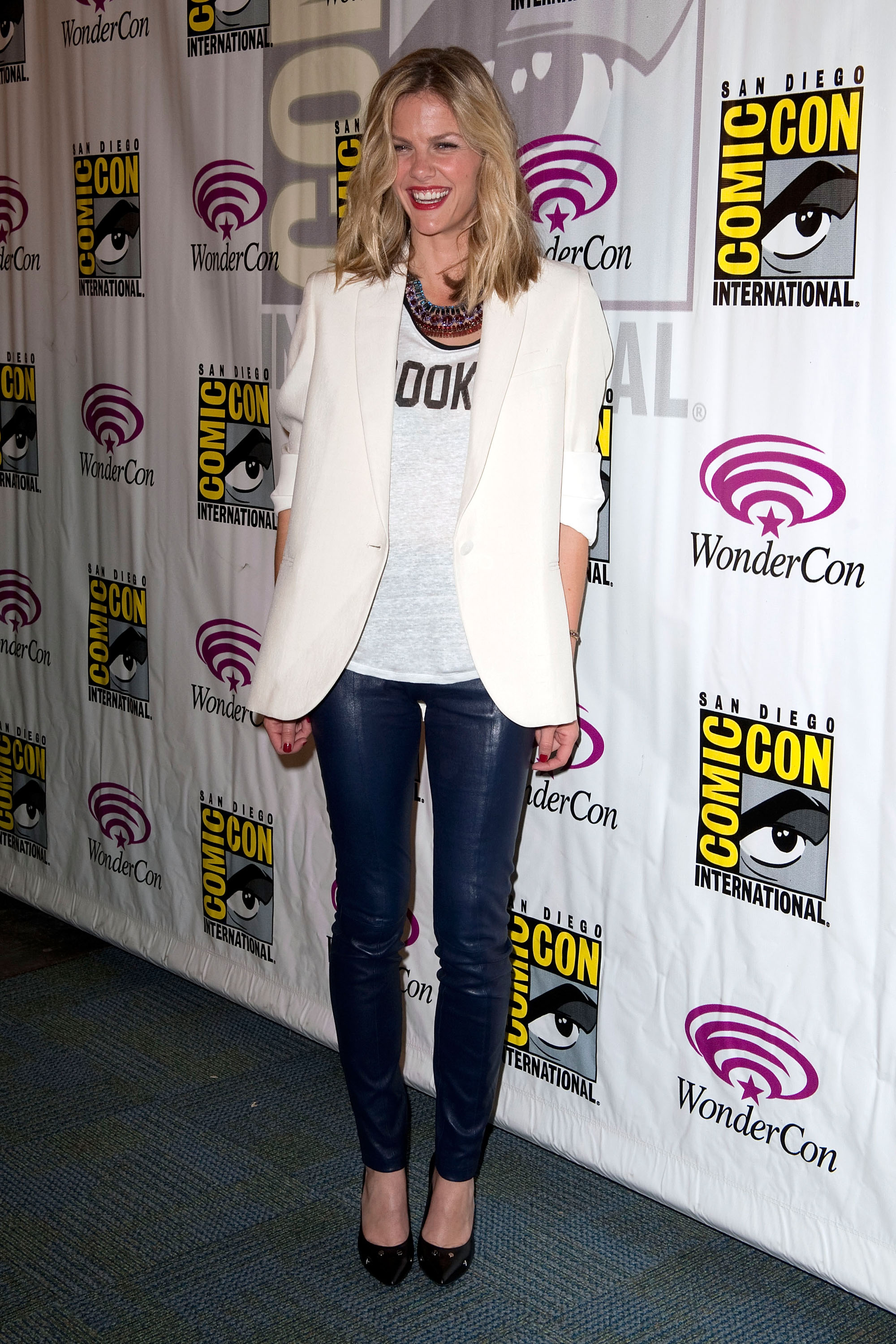 Brooklyn Decker kicked off the promotional tour in a crisp white ...