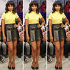 Kerry Washington Leather Skirt