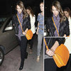 Jessica Alba Orange Crossbody Bag