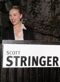 Scarlett Johansson hosted a party for family friend Scott Stringer, a 2013 NYC mayoral candidate, at the Maritime Hotel in NYC.