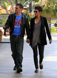 Engaged couple Halle Berry and Olivier Martinez shopped.