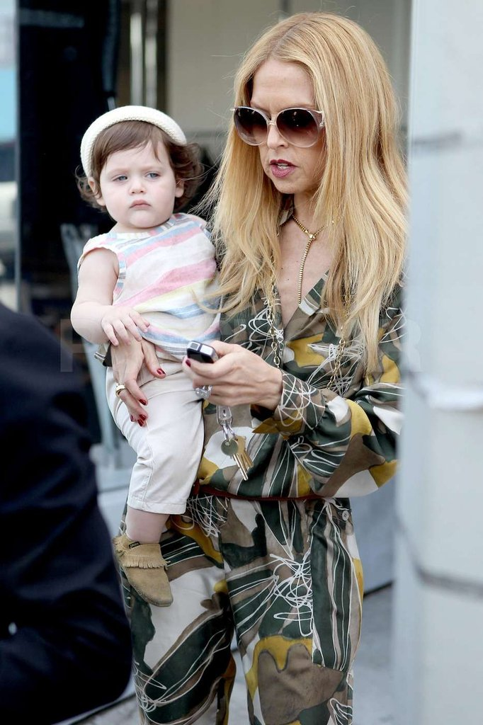 Rachel Zoe left a boutique in West Hollywood with Skyler in tow.