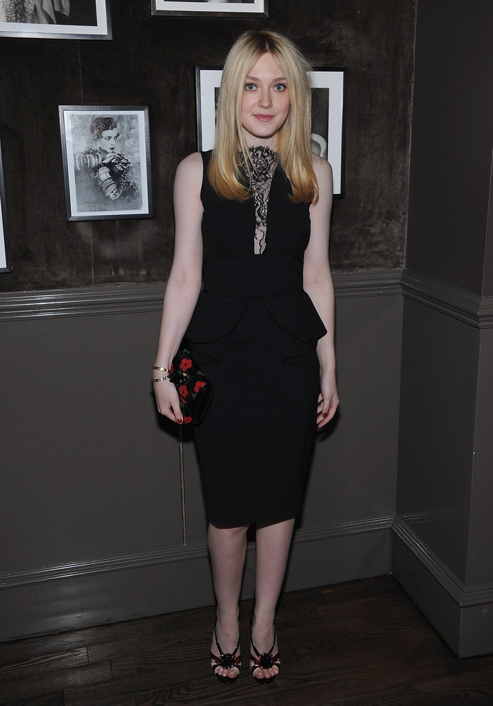 Dakota Fanning attended a private Elie Saab dinner in NYC.