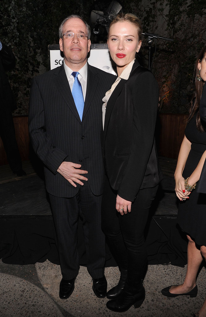 Scarlett Johansson with family friend and 2013 mayoral candidate Scott Stringer in NYC.