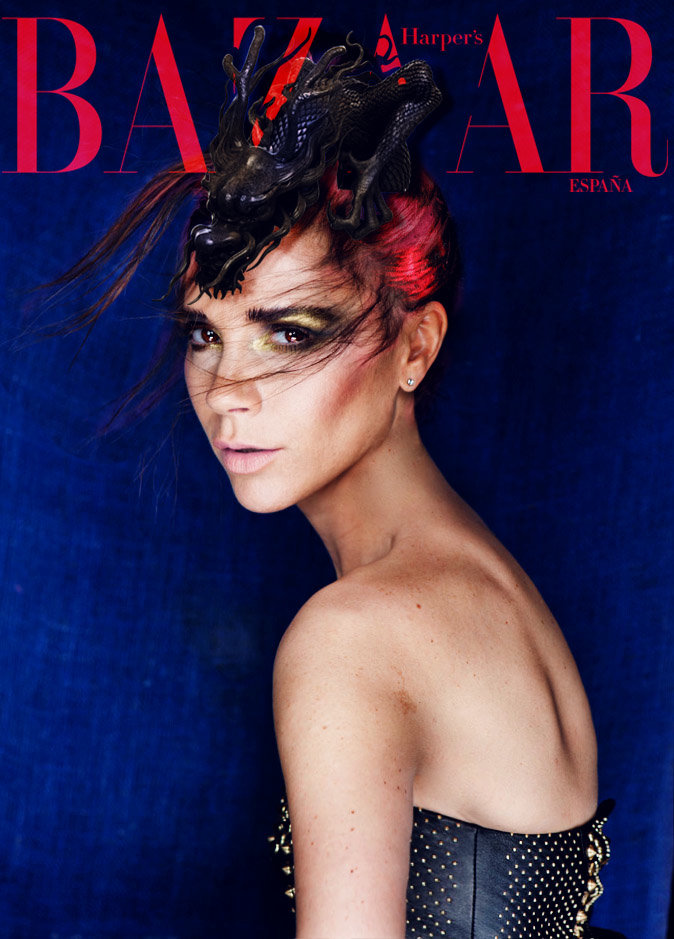 Victoria Beckham covers Harper's Bazaar China.