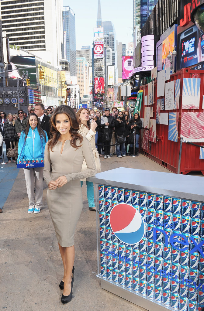 Eva Longoria promoted Pepsi Next at the Drink It to Believe It event in NYC.