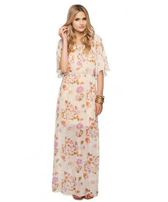Wow your Easter crowd with this lovely maxi — then do the same at any of your upcoming Spring or Summer parties.  Forever 21 Floral Flutter Maxi Dress ($30)