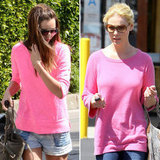 It seems celebs have a thing for hot pink — channel the trend.