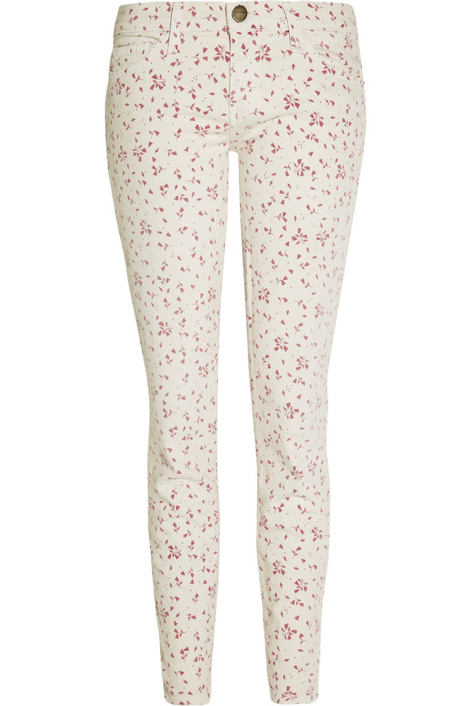 Floral jeans were made for wearing on Easter.  Current/Elliott The Stiletto Floral-Print Cropped Low-Rise Skinny Jean ($200)