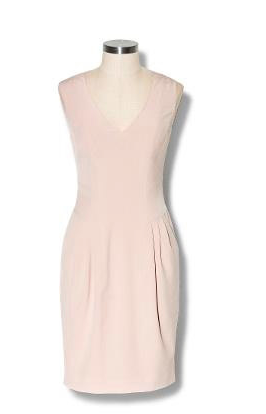 This dress is just sexy enough, with just a subtle pink-blush hue.  Vince Camuto Top Stitched Sheath Dress ($128)