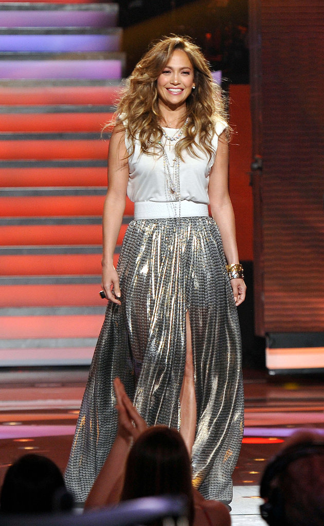 Jennifer Lopez took to the American Idol stage in Lanvin.