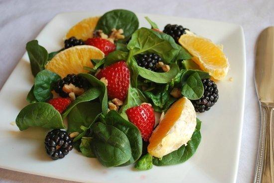 Rainbow Spinach Salad