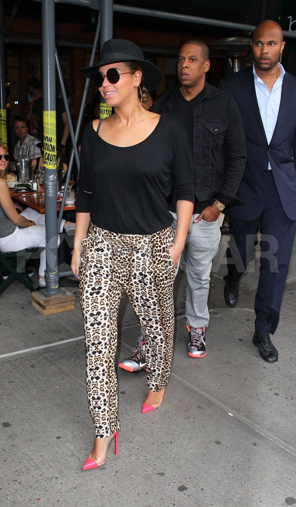 Beyoncé Knowles and Jay-Z left Bar Pitti.