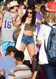 Vanessa Hudgens danced in the crowd on Sunday.