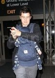 Orlando Bloom with son Flynn Bloom at LAX.