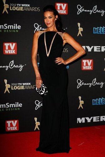 Pictures of Megan Gale on the 2012 Logies Red Carpet in Alex Perry Gown: Rate It or Hate It?