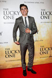 Zac Efron looked dapper in shades of gray.